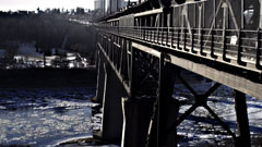 "still image for the short film ""The High Level Bridge"""