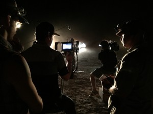 "Shot from the set of ""Transpecos;"