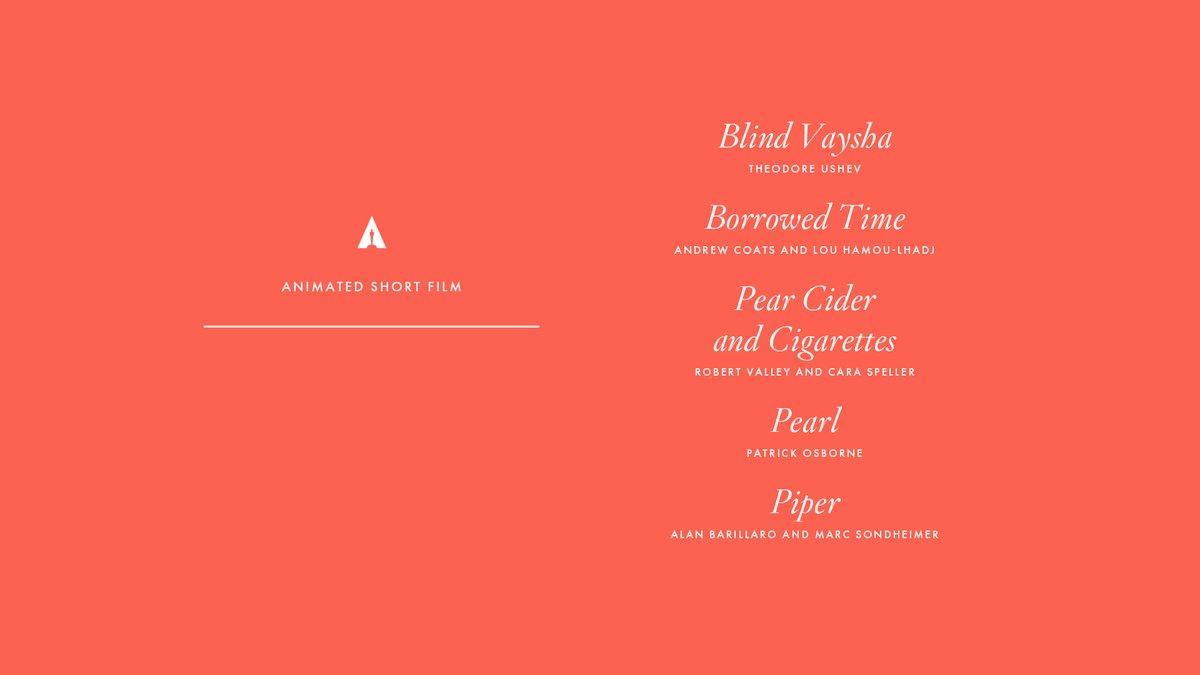 Oscar Short Film Nominees