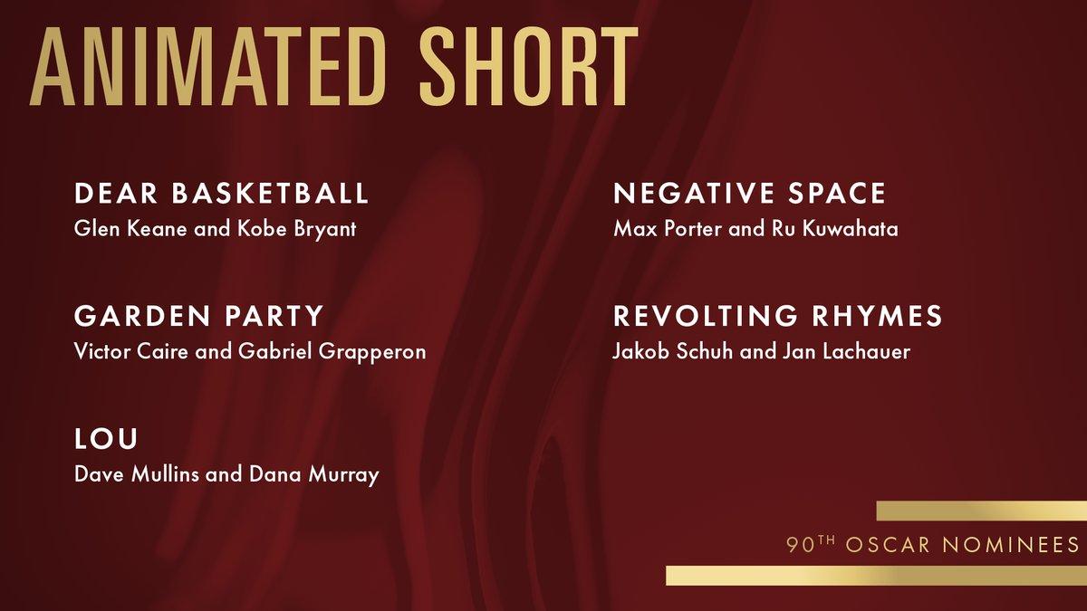 Oscar 2018 Short Film Nominees